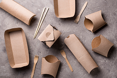 Environmentally-friendly single-use food containers